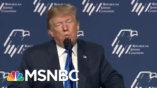 President Donald Trump Pushes Anti-Semitic Trope -- Again | All In | MSNBC