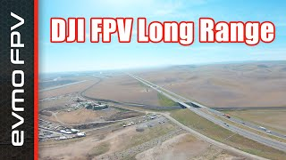 Long Range with DJI FPV - Full Flight with DVR Footage and a successful RTH save after video loss