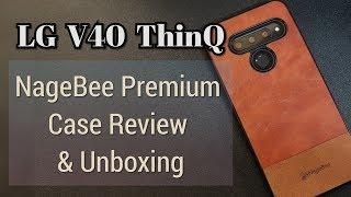 LGV40 NAGEBEE Leather (ish) Case Review!  Hidden Gem on Amazon!