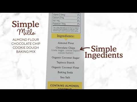 Simple Mills,  アーモンド粉ベーキングミックス、チョコレートチップクッキー、265g(9.4オンス)
