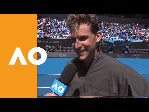 Dominic Thiem on-court interview (1R) | Australian Open 2020