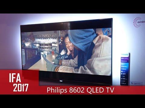 Philips 8602 Quantum Dot (QLED) 4K TV mit Ambilight (IFA 2017)