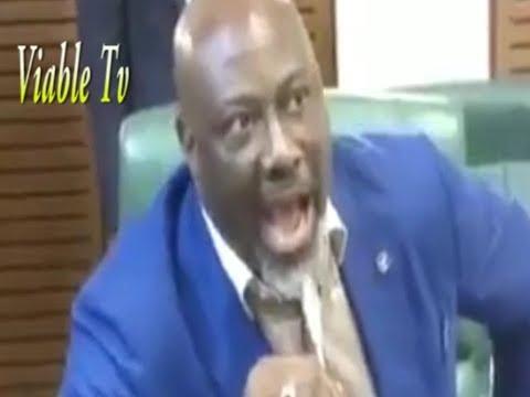 Just In : Drama as Dino Melaye Mocks Akpabio, Hails Gov. Udom