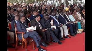 Uhuru, Raila share platform today at former Nairobi mayor's burial after the Supreme Court ruling
