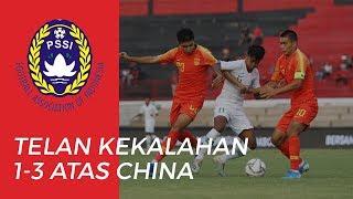 Laga Kedua Uji Coba Timnas U-19 Indonesia Melawan China Menelan Kekalahan