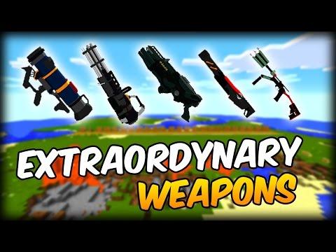 MOD DE ARMAS 3D CHETADAS: Extraordinary Weapons - Minecraft Mod 1.10.2