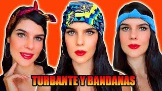 #2 CÓMO HACER TURBANTES / BANDANAS!! - BANDANA CON LAZO/ NUDO - TURBANTE COMPLETO!! PARTE 2/2- MariG