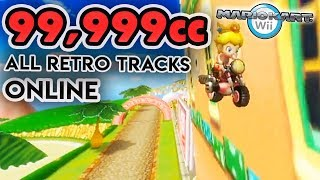 Mario Kart Wii - 99,999cc All Retro Tracks ONLINE!