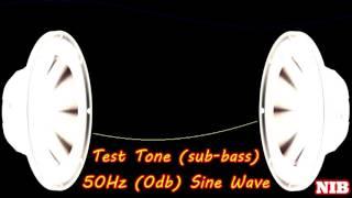 NIB - Test Tone(sub-bass) - 50Hz (0db) Sine Wave