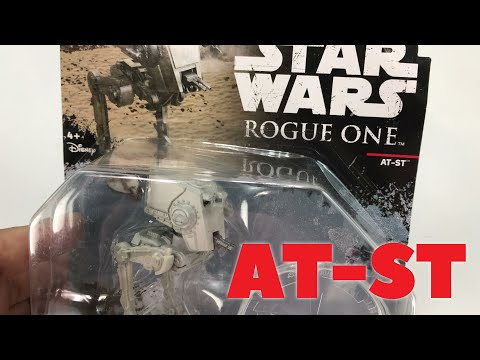Hot Wheels Star Wars Rogue One AT-ST Vehicle Toy Review