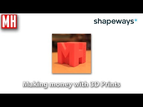 New ways to make money as a 3D artist : 3D Printing using Shapeways