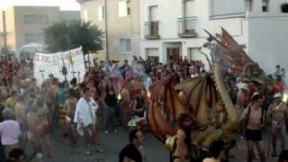 preview picture of video 'ENG: Nudist Devils Marching Through 'Llorenç del Penedès' Defending Catalan Fire Culture'