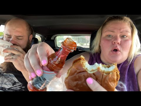 Popeyes Chicken Sandwitch + Hot Sauce Review (Darryl got into a fight)