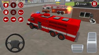 Fire Truck Driving Simulator 2020 - Best Android Gameplay