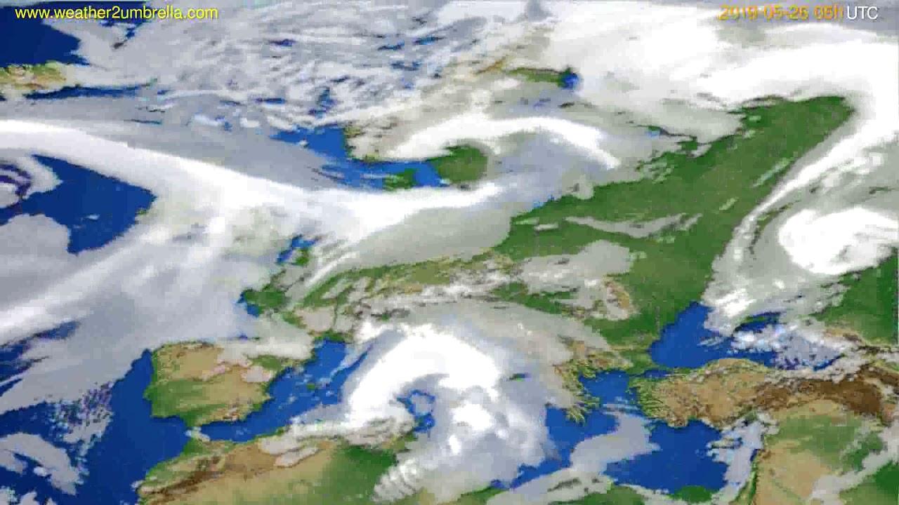 Cloud forecast Europe // modelrun: 00h UTC 2019-05-24