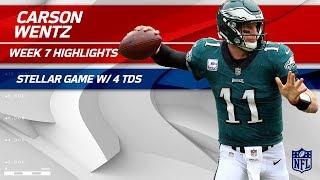 Carson Wentz's MVP Performance w/ 4 TDs!  | Redskins vs. Eagles | Wk 7 Player Highlights
