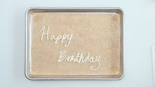 How to Decorate Your Birthday Cake with Icing