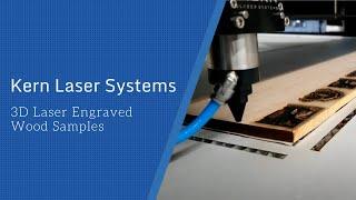 3D Laser Engraved Wood Samples