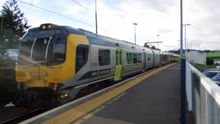 preview picture of video 'Tranz Metro FP/FT class EMU depart from Johnsonville station'