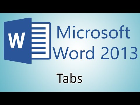 Microsoft Word 2013 Tutorial – Tabs
