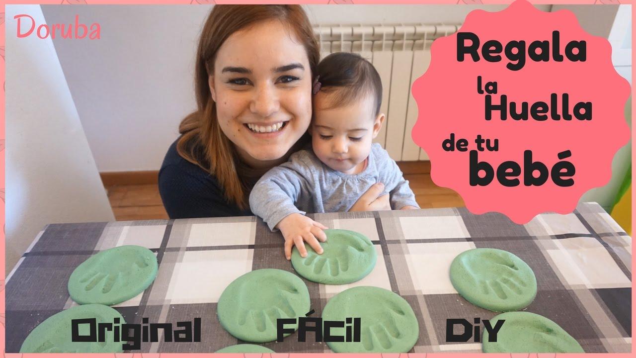 Como hacer huellas caseras con pasta de sal -- Regalo original -- DIY -- Doruba