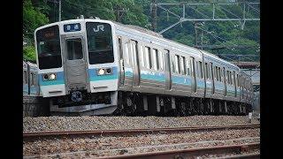 211系長野色特集 中央線普通電車 Japanese local train 211kei