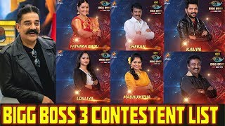 bigg boss 3 tamil contestants list with photos - Thủ thuật