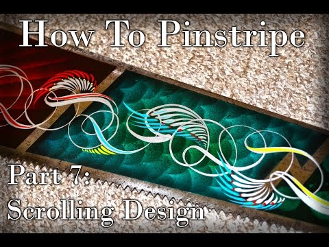 Cambridge Pinstriping, Tutorial - Part 7, Scrolls - Scrolling Design, How To Pinstripe. Mp3