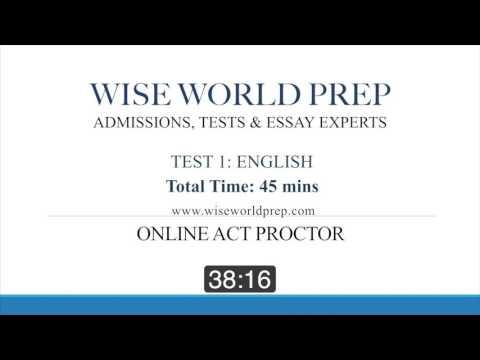 Wise World Prep - Online ACT Exam Proctor - YouTube