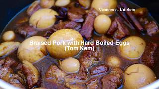How to Make Braised Pork with Hard Boiled Eggs (Tom Kem)