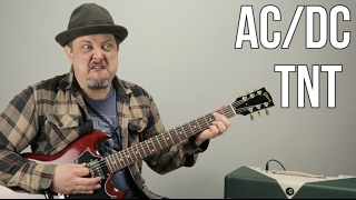 AC/DC - TNT - How to Play TNT by ACDC Angus Young - Easy Power Chords