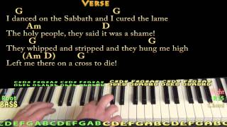 Lord of the Dance (HYMN) Piano Cover Lesson in G with Chords/Lyrics