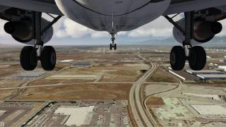 Airbus A320 approaching Salt Lake City [Gear CAM] ++ Aerofly FS 2 ++