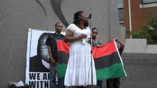 Renee Wilson speaks at Justice for Jordan Miles rally, Pittsburgh, 25 June 2011