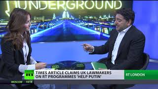 Times article claims UK lawmakers on RT programs 'help Putin'