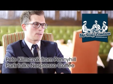 Pete Klimczak from Pennyhill Park talks Nespresso Coffee