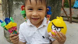 Trò Chơi Bé Vui Angry Birds Vui Nhộn ❤ ChiChi ToysReview TV ❤ Đồ Chơi Trẻ Em Baby Fun Song Bài Hát