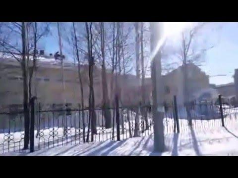 Нефтеюганск видео. Достопримечательности зимой. Прогулка.