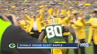 Donald Driver raffling off NFC Championship tickets