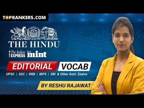 The Hindu Editorial Analysis | 18 Nov Hindu Editorial By Reshu Ma'am | Vocab Analysis