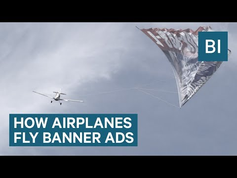 How Do Pilots Fly with Giant Banners in the Sky?