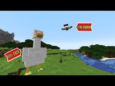EVIL DUCK ATTACKED ME WITH HEROBRINE in MINECRAFT