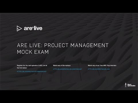 ARE Live: Project Management Mock Exam - 2019 - YouTube