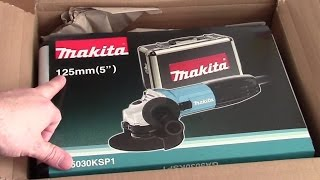 Unboxing Makita Winkelschleifer GA5030KSP1 (Flex)