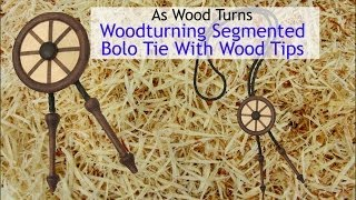 Woodturning JewelrySegmented Bolo Tie With Wood Tips