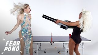Drag Queens Play Fear Pong (Irene & Kaleena) | Fear Pong | Cut