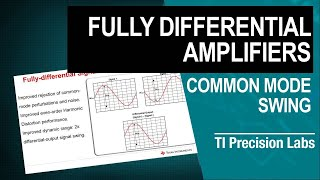 TI Precision Labs – Op Amps: Fully Differential Amplifiers – Input and Output, Common-Mode and Diffe
