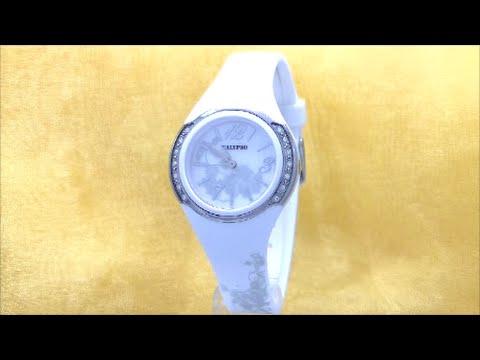 Calypso Damen Uhr K5639/1 weiß Strass Damen-Armbanduhr