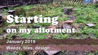Plot 89 - Jan 2019 I'm starting on my allotment!