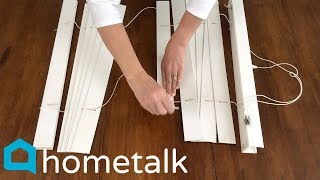Brush Some Mod Podge On Old Blinds For This Brilliant Window Treatment Idea! | Hometalk